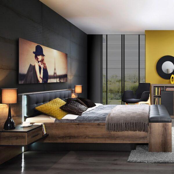 Bellevue BLQL161B Комплект (Ліжко 1 - 1 » Агата Меблі