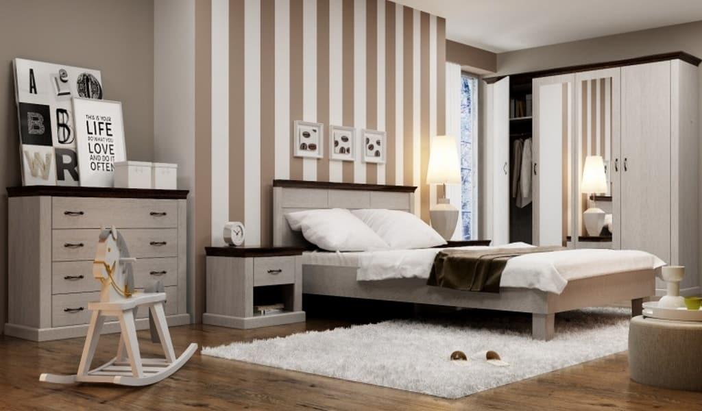Колекція меблів у спальню Lawenda. Виробник - Польща