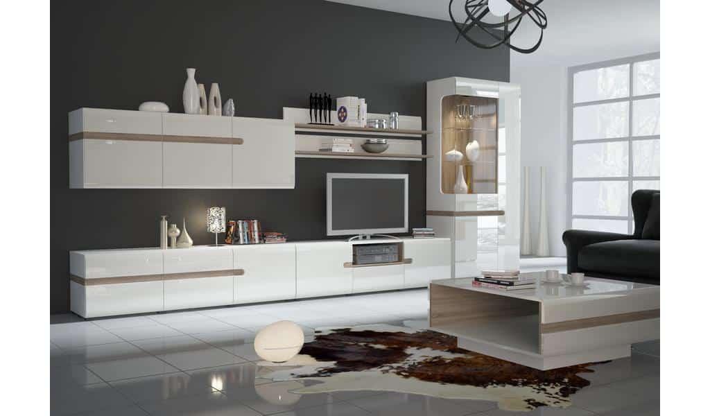 Колекція меблів у вітальню чи їдальню Linate. Виробник - фабрика MebleWojcik (Войчик) Польща