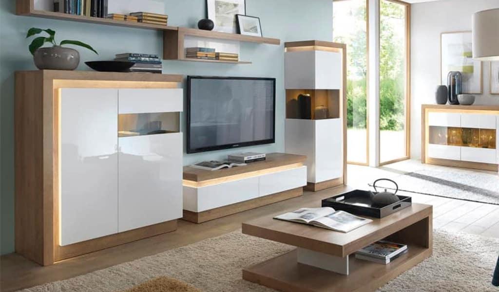 Меблі з сучасним дизайном та додатковим освітленням. Колекція Lyon (Ліон) Польща. Фабрика Войчик
