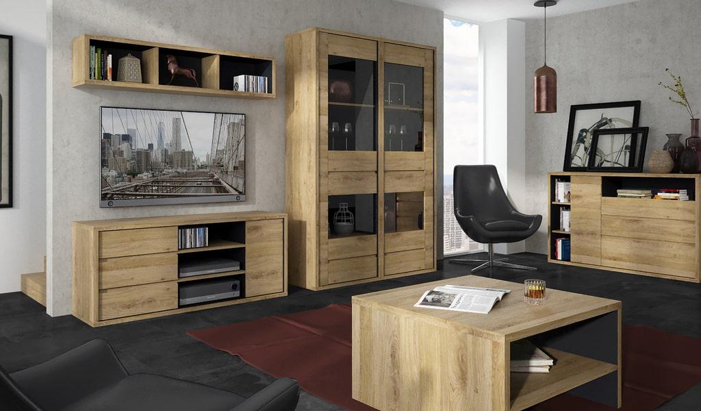 Колекція меблів для домашнього кабінету Shetland. Виробник - фабрика MebleWojcik (Войчик) Польща