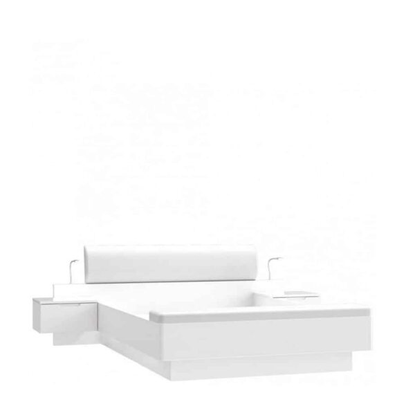 Starlet White STWL163 Комплект (Ліжко1,6 + 2 тумби+пуфік)