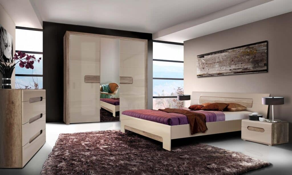 Спальня Tiziano Фото. Меблі Тіціано для спальні. Виробник - Меблі Форте Польща