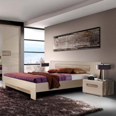 Ліжко Tiziano tzml160. Розмір спального місця 160 см на 200 см. Спальня Тіціано. Польща. Фабрика Форте Меблі